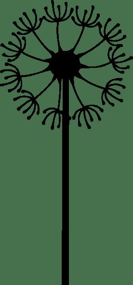 black dandelion clip art