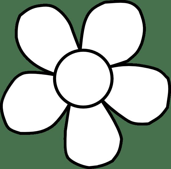 bold white flower clip art