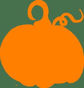 orange pumpkin sihouette clip art