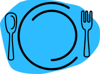Blue Plate Cartoon Clip Art at Clker.com - vector clip art ...