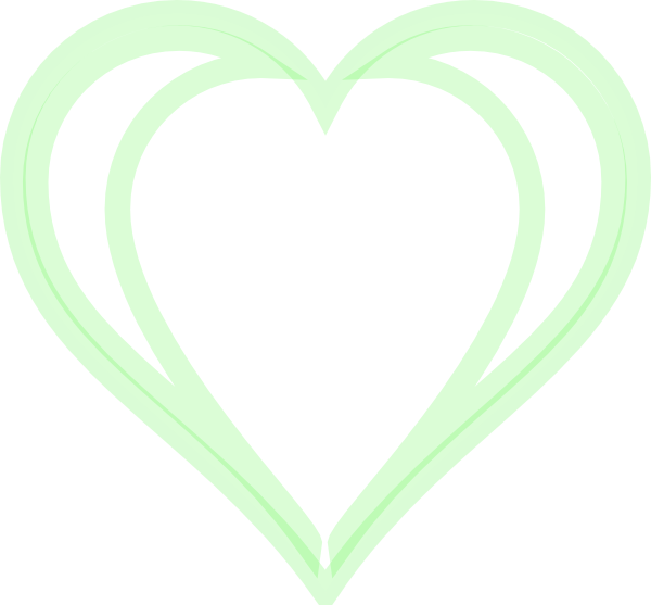 Heart Green Layered Clip Art at Clkercom vector clip