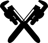 Crossed Pipe Wrench Clipart