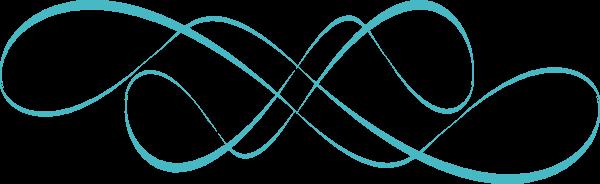 swirl design teal clip art