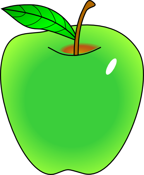 shaded green apple clip art