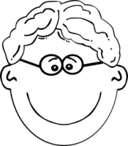 boy wavy hair glasses clip art