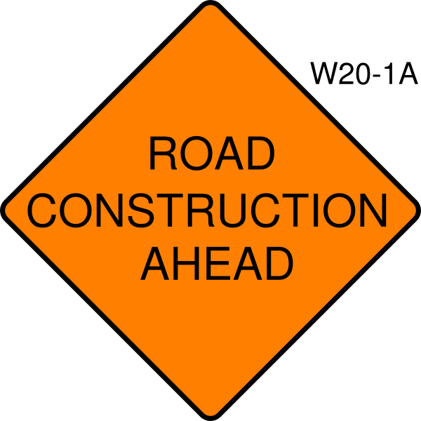 Road Construction Ahead Clip Art At Vector