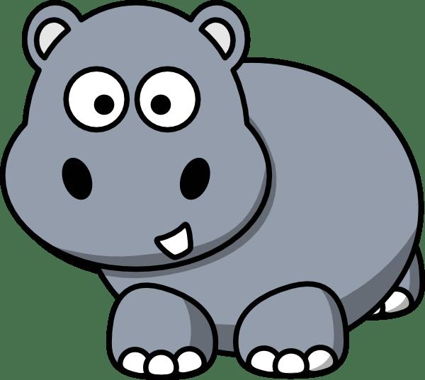 Side Hippo Clip Art at Clkercom vector clip art online