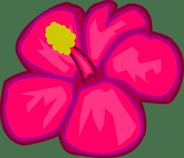 pink flower 3 clip art