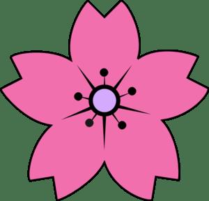 Sakura Pink Clip Art at Clkercom  vector clip art online