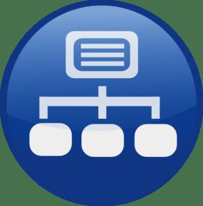 Blue Network Diagram Clip Art At Clker Com Vector Clip Art