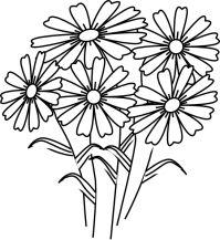 Coloring Book Flowers Clip Art at Clker.com - vector clip ...