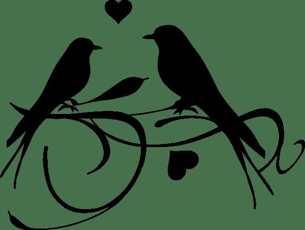 Download Love Birds Black Clip Art at Clker.com - vector clip art ...