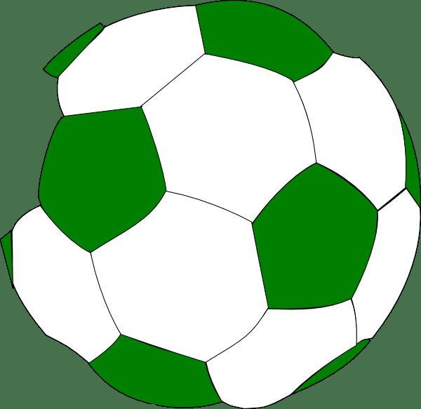 green soccer ball clip