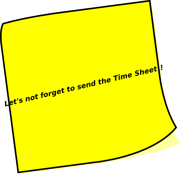 timesheet reminder clip art