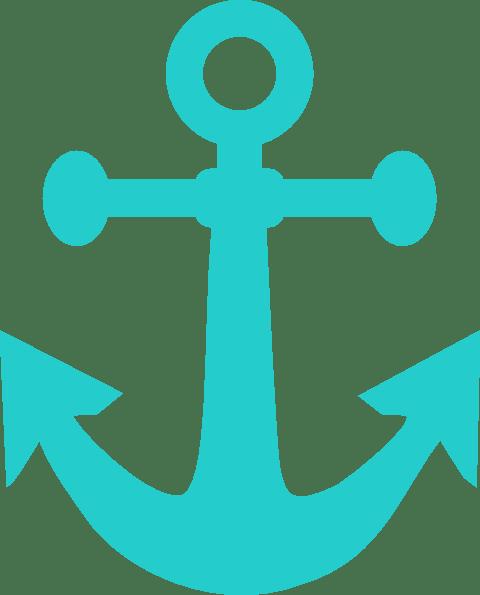dark teal anchor clip art