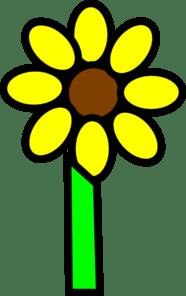 sunflower with stem clip art