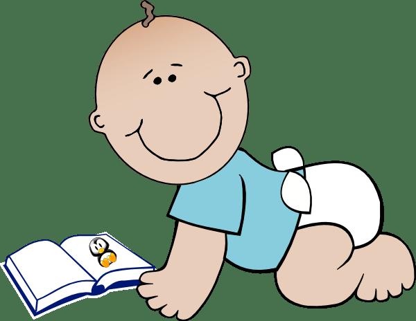 baby read clip art