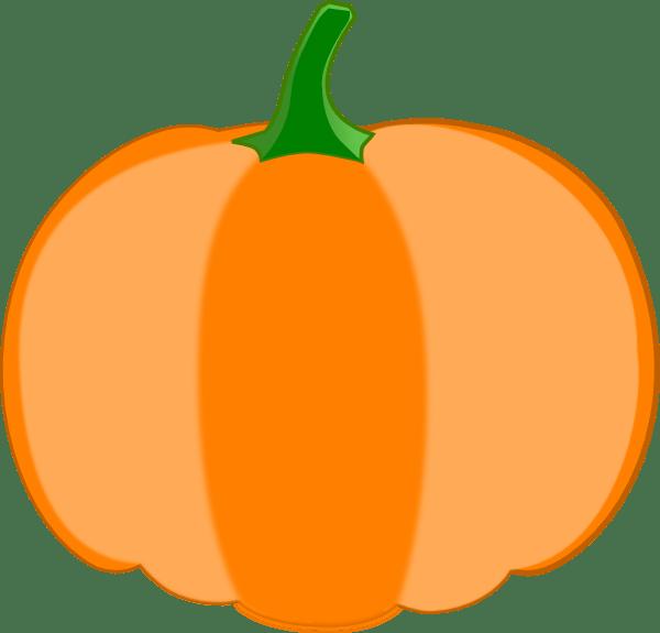 orange pumpkin green stem clip