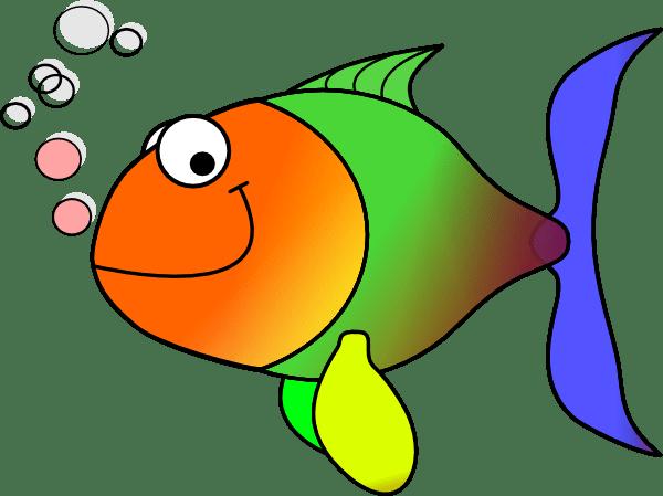 comic fish clip art