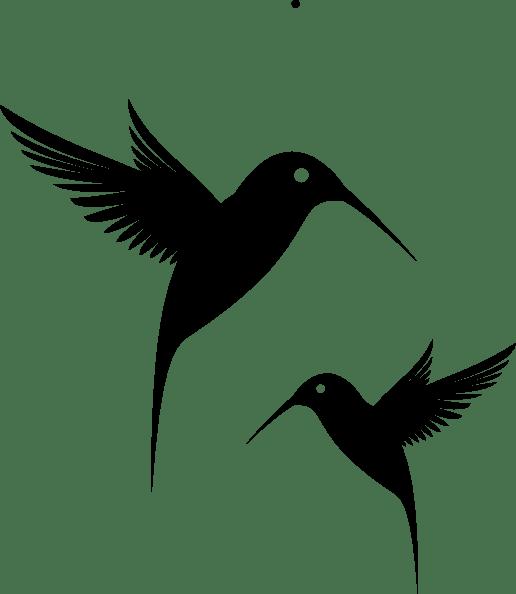 black humming bird clip art