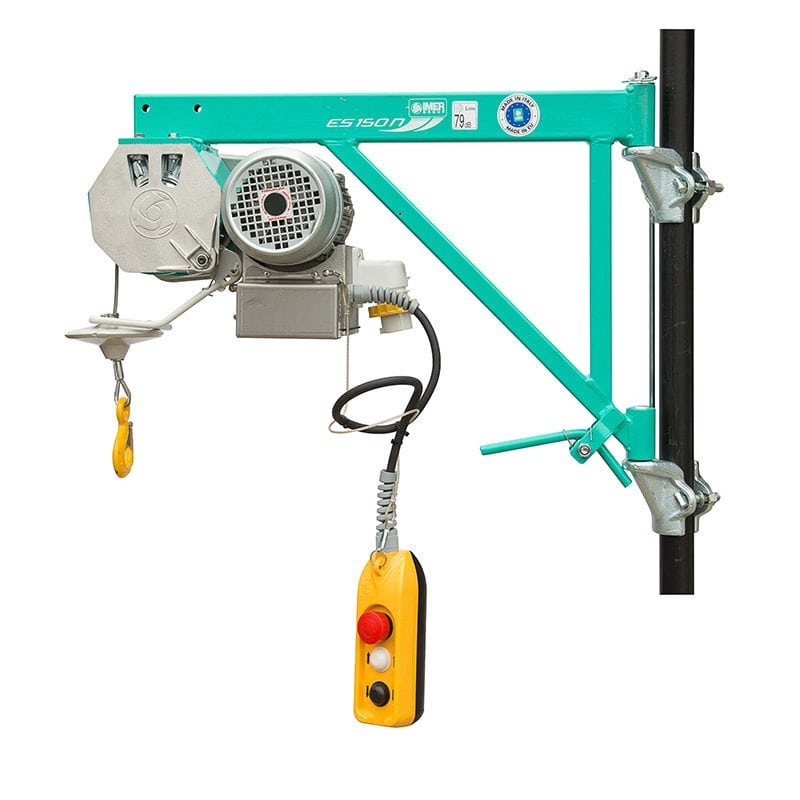 IMER ES150N High Capacity 150kg 30m Scaffold Wire Rope Hoist | CLM  Construction Supplies