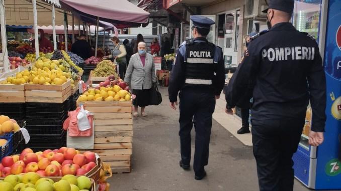 Control al polițiștilor călărășeni pentru prevenirea răspândirii COVID-19. FOTO IPJ Călărași