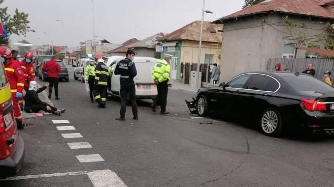 Accident rutier în municipiul Călărași. FOTO Nicu Bodeanu