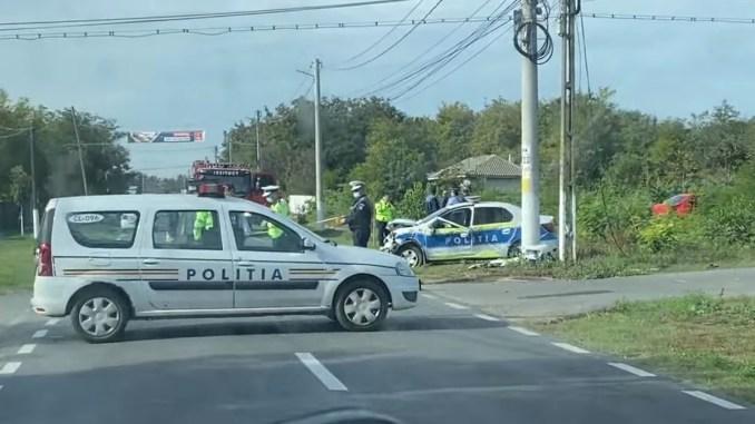 Accident mortal în care a fost implicată o mașină a Poliției. FOTO Ädi Drew