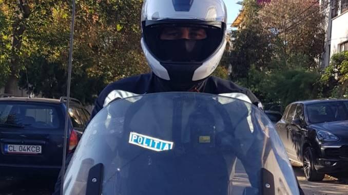 Polițist pe motocicletă. FOTO IPJ Călărași