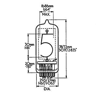 Hivac GR10J nixie tube clock