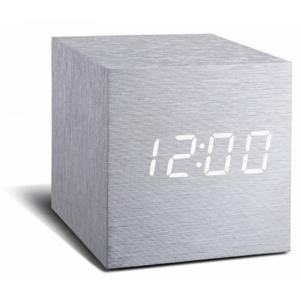 click-clock-cube-aluminium-met-witte-led 1
