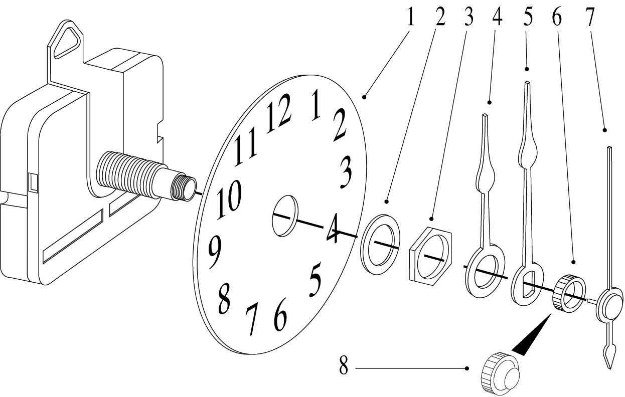 Build Your Own Tower Clock Arabic Style