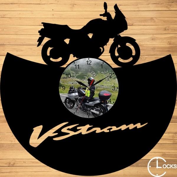 CEAS DE PERETE DIN LEMN NEGRU Suzuki V strom 650 Clocks Design