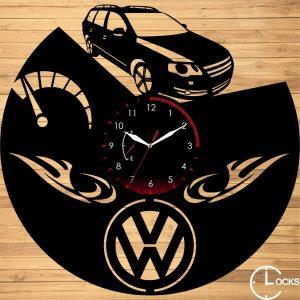 Ceas de perete din lemn negru Volkswagen B6 (model 1) Clocks Design