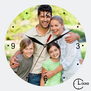 Ceas din sticla happy family clocksdesign