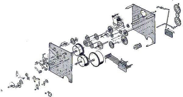 350 / 351 Series Hermle Clock Movements : Clockworks