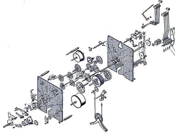 Hermle Clock Movement 350 : Clockworks