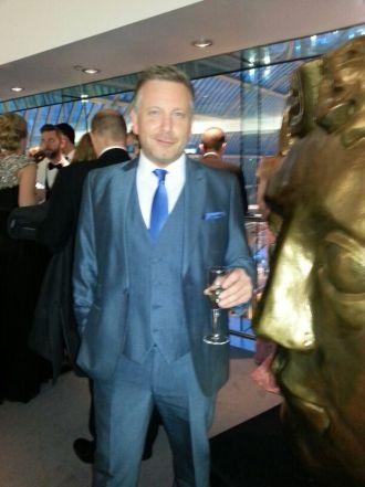 Digital Recruitment Specialist-Brett Dickinson- rubbing shoulders at the BAFTA's
