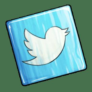 Twitter Logo White Bird on Blue Background