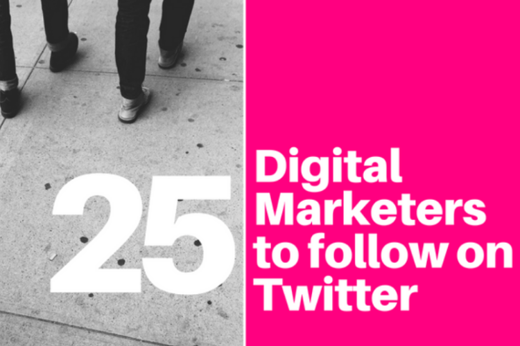 25 Digital Marketers to Follow on Twitter
