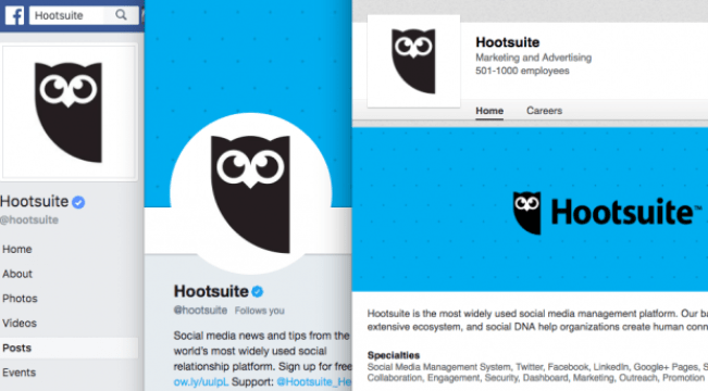 Hootsuite's social media images