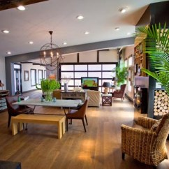 Garage Door Living Room Tiny Set Clopay Blog Glass Doors Open Up Interior Spaces The Contemporary Look Of Black Frame Fits Right In With Home S Rustic Modern Architectural Style