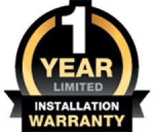 1 YEAR INSTALLATION WARRANTY LOGO