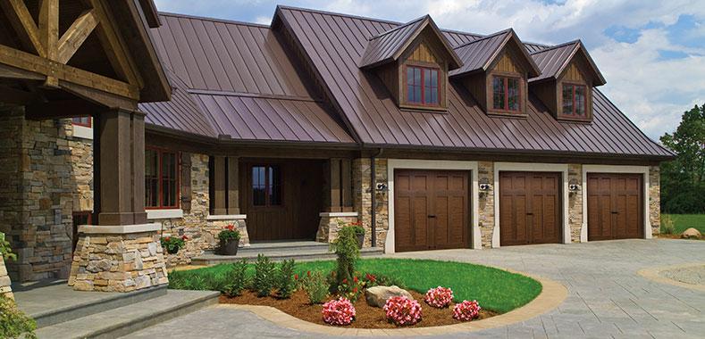 Walnut color new option on canyon ridge collection garage doors