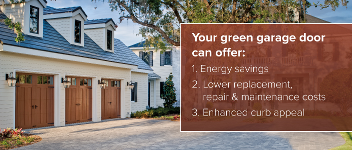 Green EcoFriendly Garage Doors  Clopay Buying Guide