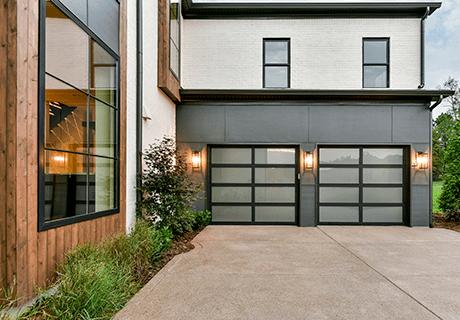 modern aluminum glass garage doors clopay avante collection