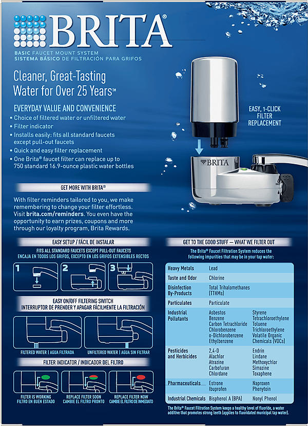 brita faucet mounts water filtration