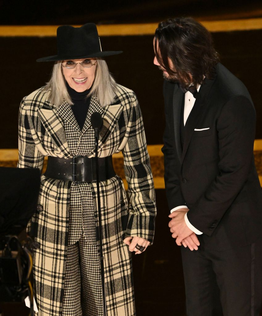 Diane Keaton At Oscars 2020 Star Presents On Stage At