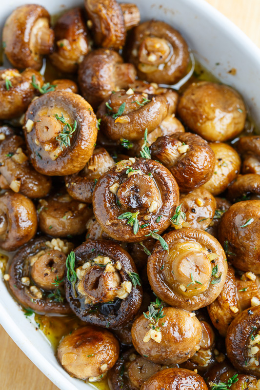 Roasted Mushroom In A Browned Butter, Garlic, Thyme Sau