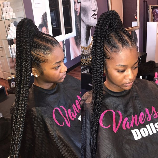 80 Amazing Feed In Braids For 2020
